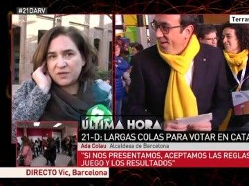Ada Colau habla con laSexta