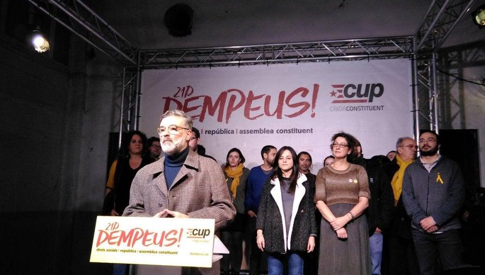 El candidato de la CUP, Carles Riera