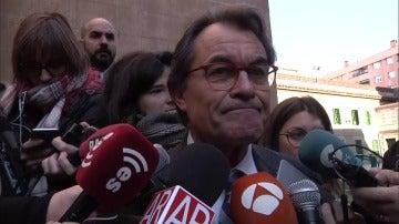 """Artur Mas compara estas elecciones con el 1-O y espera que las votaciones sean como las de hoy, sin """"represión y violencia"""""""