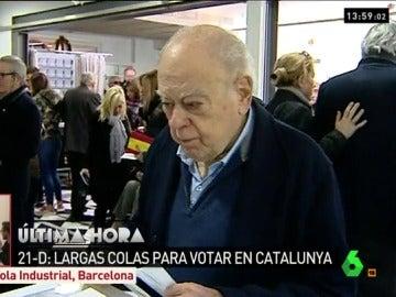 Jordi Pujol i Soley en el momento de votar el 21D