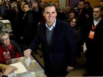 Albert Rivera votando el 21D