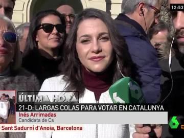 Inés Arrimadas, durante su entrevista en ARV
