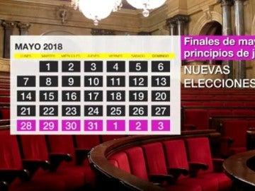 Calendario en Cataluña tras el 21D