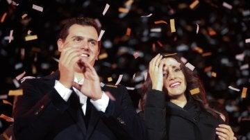 Albert Rivera e Inés Arrimadas celebran la victoria de Ciudadanos en Cataluña