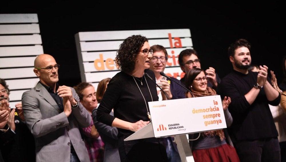 La principal candidata de ERC en las elecciones del 21D, Marta Rovira