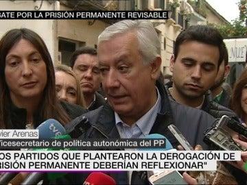 Javier Arenas ante los medios
