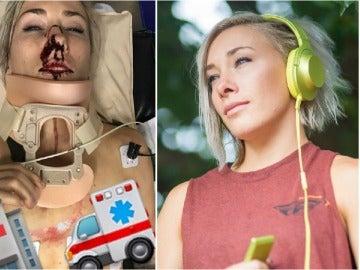 Caroline Buchanan, ciclista de BMX, tras su grave accidente