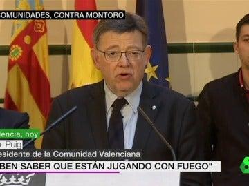 Ximo Puig ante los medios de comunicación