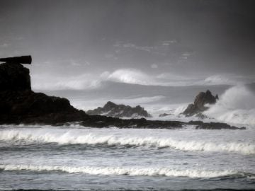Imagen de un temporal marítimo