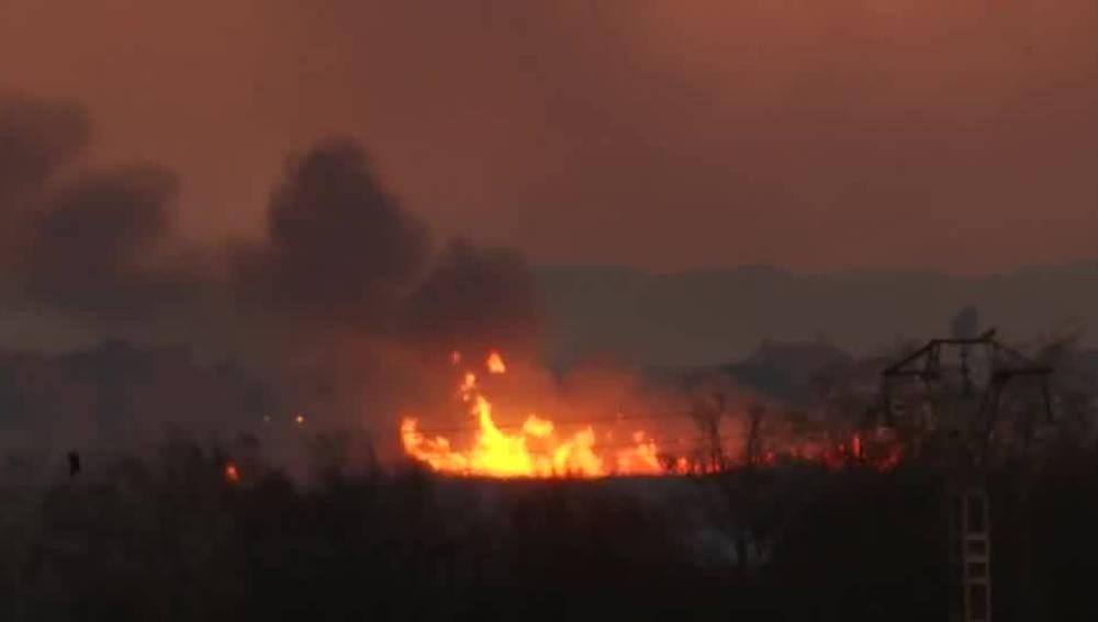 Incendio en Sagunto