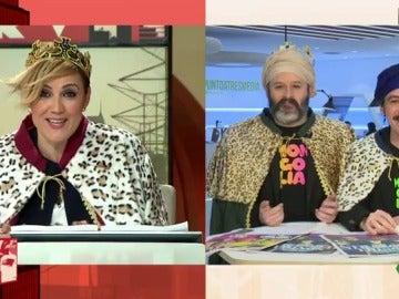 Cristina Pardo se disfraza de reina maga en Informe Mongolia