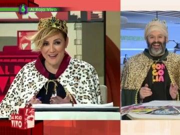 Cristina Pardo se viste de Rey Mago