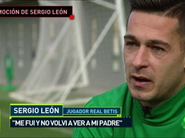 """La emoción de Sergio León al recordar a su padre: """"Le hice la promesa de jugar en Primera"""""""