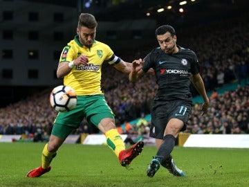 Pedro centra en el partido con el Chelsea