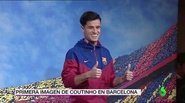 La primera foto de Coutinho como jugador del FC Barcelona