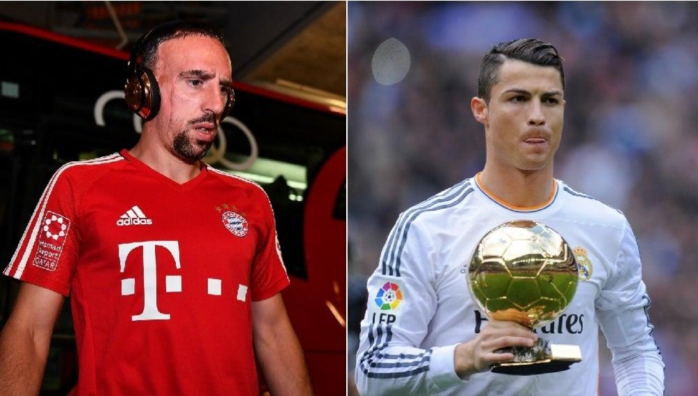 Ribéry y Cristiano Ronaldo