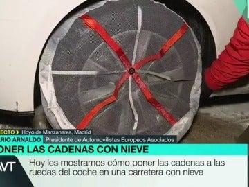 Cadena en una rueda