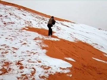 Las dunas de Sáhara nevadas