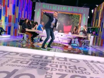 Frank Blanco se desata en el plató de Zapeando a ritmo de 'Sugar' de Maroon 5