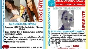 Las dos jóvenes desaparecidas