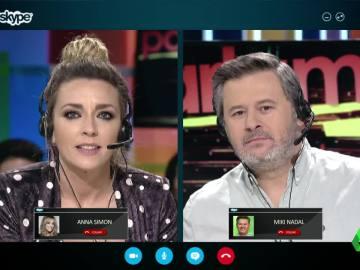 Miki Nadal y Anna Simon recrean cómo sería gobernar Cataluña por Skype