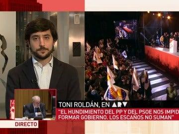 Toni Roldán, en Al Rojo Vivo