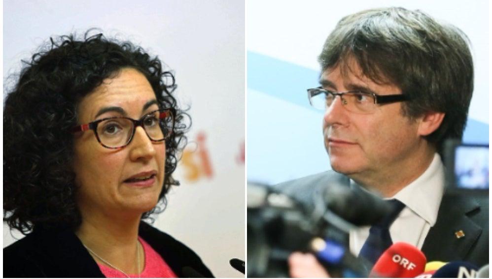 Marta Rovira y Carles Puigdemont