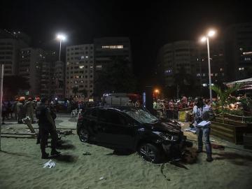 El coche que provocó el atropello múltiple en Copacabana