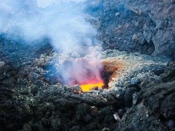 Detalle del volcán Etna
