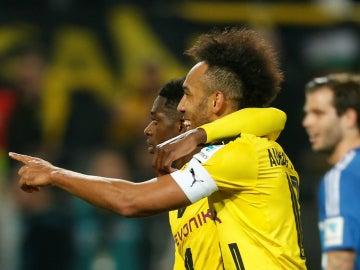 Dembele y Aubameyang, en el Borussia Dortmund