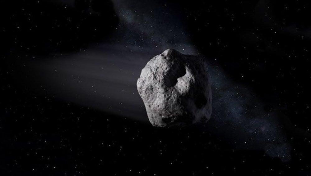 El asteroide mediano 2002 AJ129