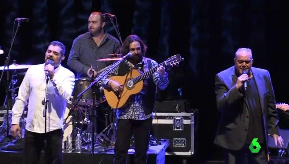 Los Chicos durante su concierto en Madrid