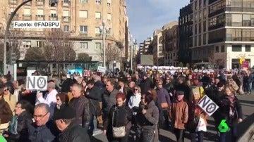Miles de personas se manifiestan en Valladolid en defensa de la Sanidad Pública