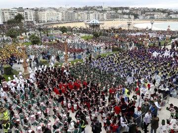 Imagen de la tamborrada en San Sebastián