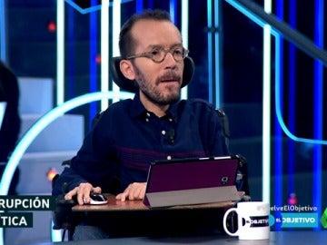 El secretario de Organización de Unidos Podemos, Pablo Echenique, en El Objetivo