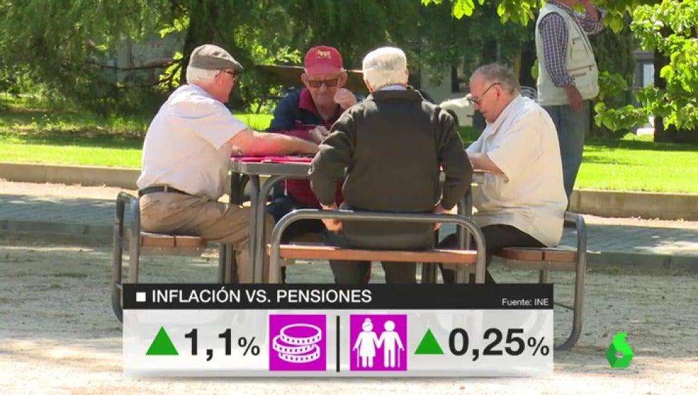 Un grupo de jubilados en el parque