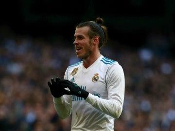 Bale celebra un gol con el Real Madrid