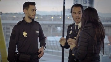 El comisario Jesús Gómez y el inspector Alberto Velasco