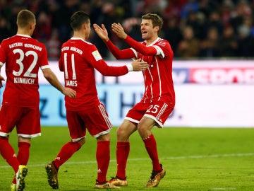 El Bayern celebrando el gol