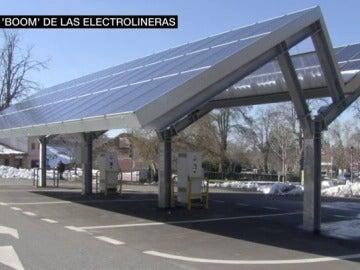 Electrolinera situada en La Granja de San Idelfonso, Segovia