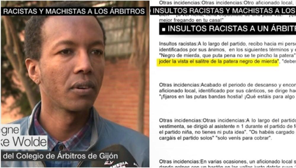 Tarekegne Asnake Wolde, árbitro objeto de insultos racistas en Asturias