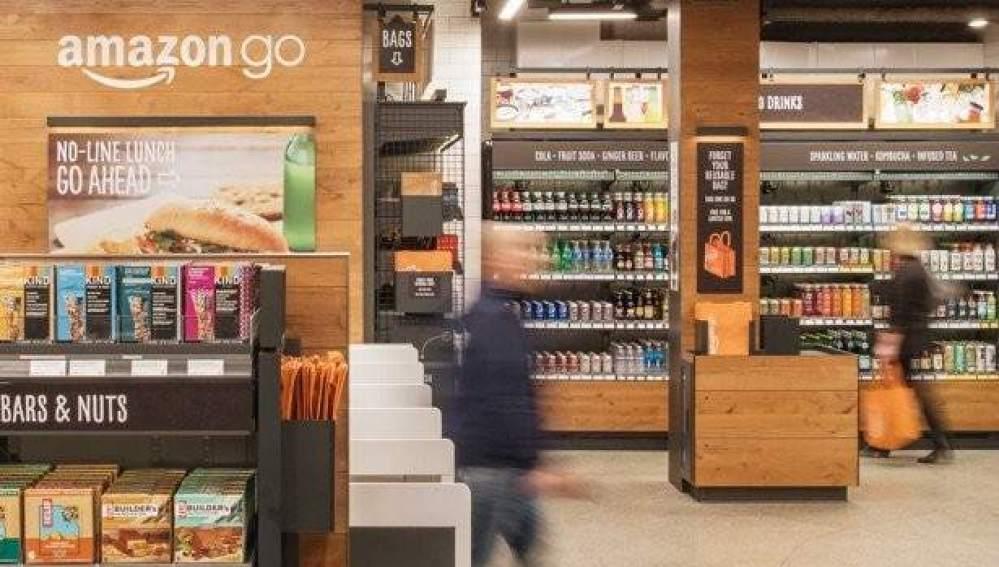 Imagen de Amazon Go, el primer supermercado de la compañía