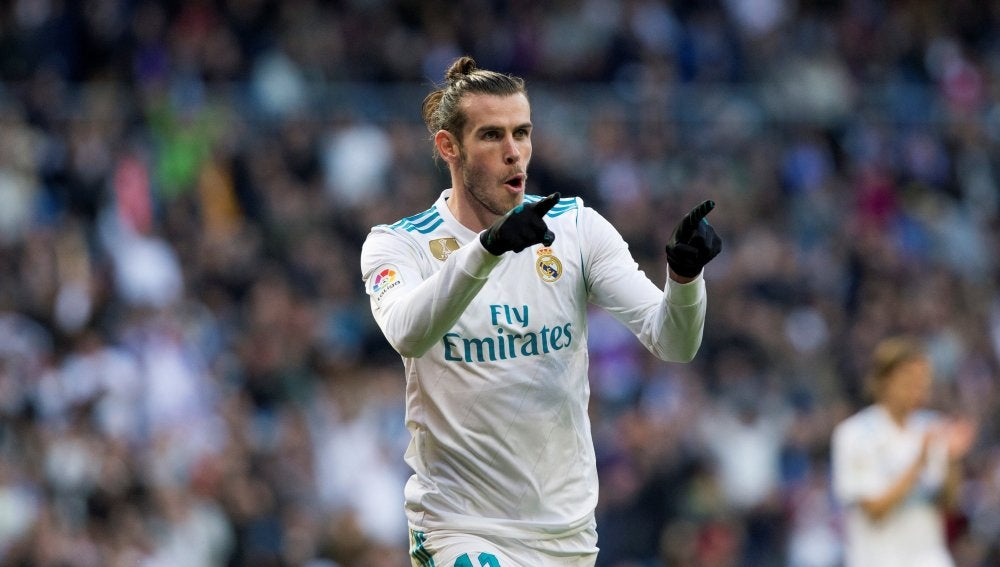 Gareth Bale celebra un gol con el Real Madrid