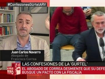 Juan Carlos Navarro, abogado de Correa