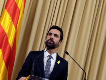 El presidente del Parlament, Roger Torrent (ERC)