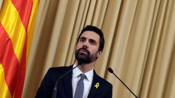 El presidente del Parlament, Roger Torrent (ERC)
