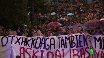 Manifestación contra la violencia en Bilbao