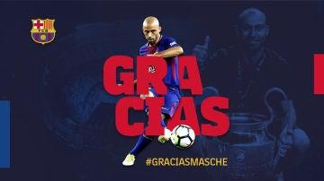 El Barcelona anuncia la marcha de Mascherano