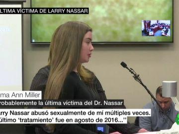 """La última víctima de de Larry Nassar, una niña de 16 años: """"La última vez fue en agosto de 2016"""""""