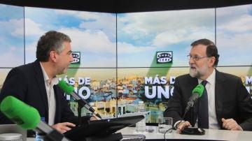 Mariano Rajoy, durante su entrevista en Onda Cero